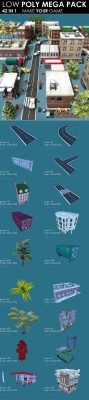 Low Poly City Megapack Models 2011