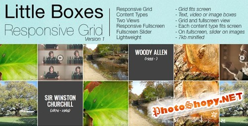 CodeCanyon - Little Boxes Responsive Grid - Rip