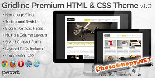 ThemeForest - Gridline Premium Business and Portfolio HTML Theme - Rip
