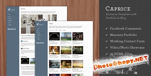 ThemeForest - Caprice - Business Template with Portfolio & Blog - Rip
