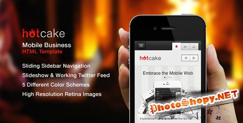 ThemeForest - HotCake - Mobile Business HTML Template - Rip