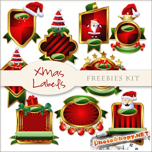 Scrap-kit - Christmas Labels #3
