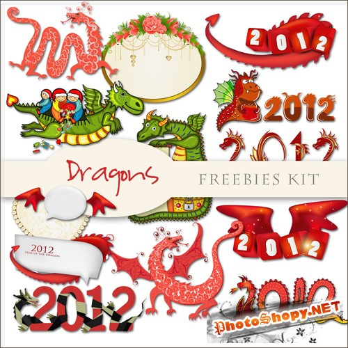 Scrap-kit - Dragons 2012