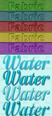 Water and Fabric Layer Styles