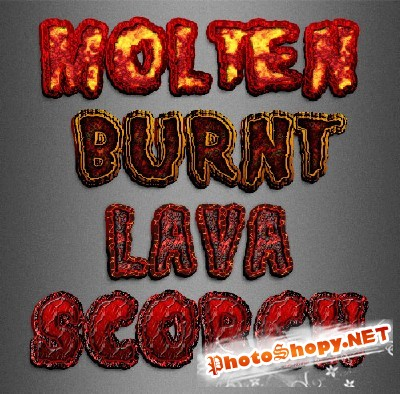 Styles - Lava Text Effects