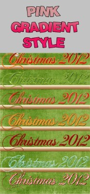 Christmas text layer styles for Photoshop