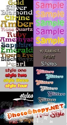 Text Layer styles for Photoshop pack 9