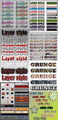Text Layer styles for Photoshop pack 8