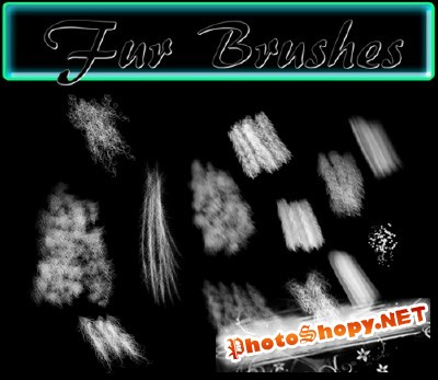 Fur brushes set
