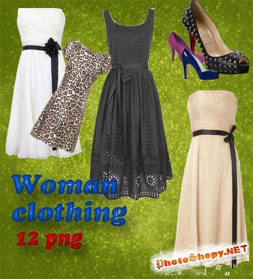 Разные платья и туфли