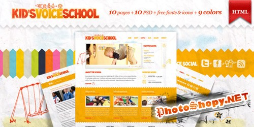 ThemeForest - Kids Voice School - HTML Template - RETAIL