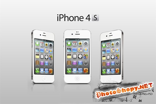 iPhone 4S white - PSD