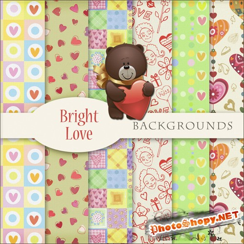 Bright Love Backgrounds
