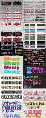 Cool Text layer styles for Photoshop pack 14