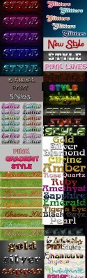 Cool Text layer styles for Photoshop pack 13