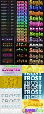 Cool Text layer styles for Photoshop pack 15