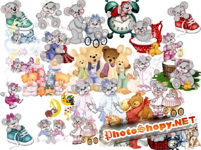 PSD for Photoshop - A collection of teddy bears