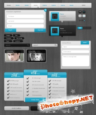 Light Blue Collection Web PSD