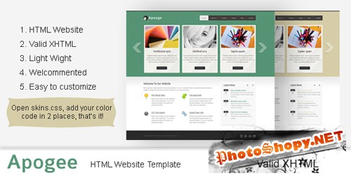 ThemeForest - Apogee: Clean Corporate Website Template - Rip