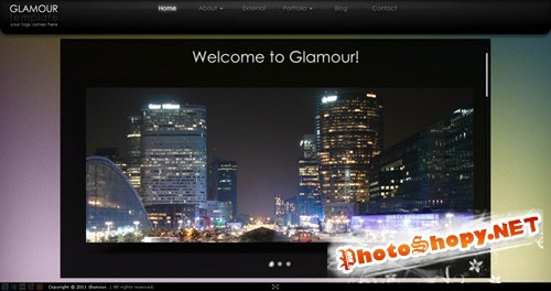 ActiveDen - Glamour AS3 XML Website Template