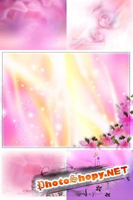PSD for Photoshop - Pink backgrounds