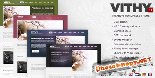 ThemeForest - Vithy - WordPress Portfolio Theme