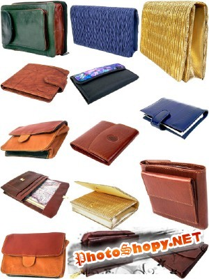 PSD for Photoshop - Different set of leather wallets