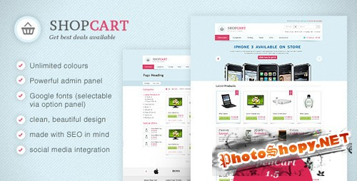 ThemeForest - ShopCart - Theme with Powerfull Options v1.1.7 for OpenCart 1.5.1.3