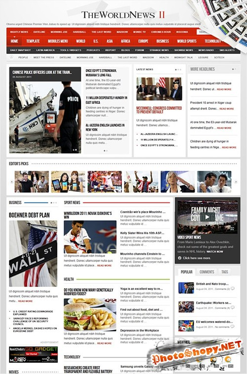 Gavick - The World News II v2.5j For Joomla 1.7 - Retail