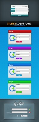 PSD for Photoshop - Admin Login Panel pack 6