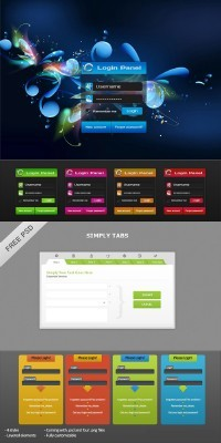 PSD for Photoshop - Admin Login Panel pack 5