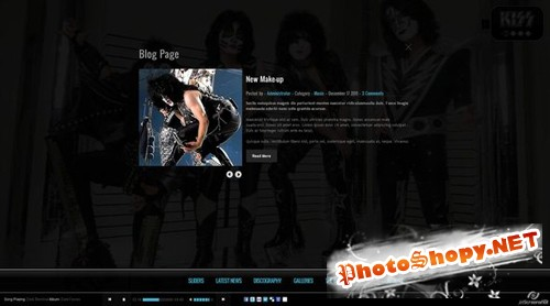 ThemeForest - Kiss - Band-Template - HTML5 - CSS3 - Rip