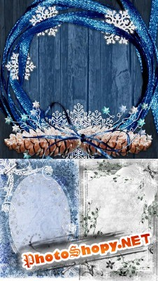PSD for Photoshop - Winter landscapes photo frames