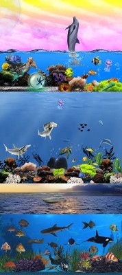 PSD for Photoshop - Beautiful underwater world