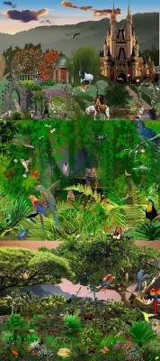 PSD for Photoshop - Fairyland and jungle