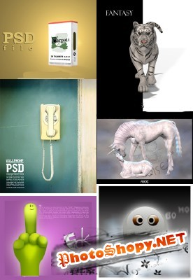 PSD collection for Photoshop 2011 pack # 77