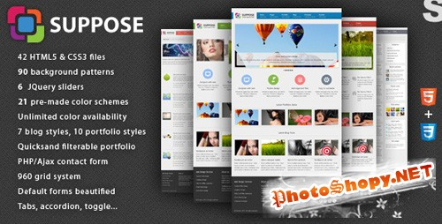 ThemeForest - Suppose - Premium HTML5 Theme - Rip