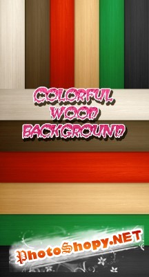COLORFUL WOOD BACKGROUND FOR PHOTOSHOP
