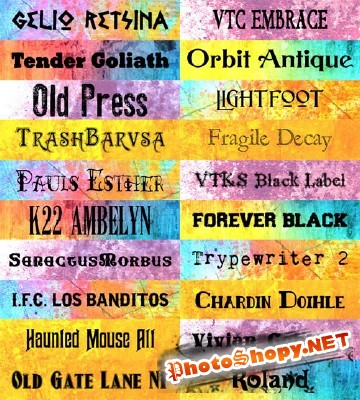 Old School Fonts