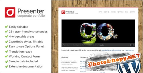 ThemeForest - Presenter WP - Corporate Portfolio Theme v1.0.3 for WordPress 3.x
