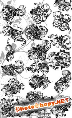 Floral Branches Brushes