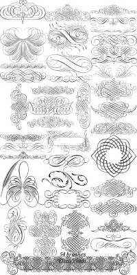 Decorative Brushes for Pages