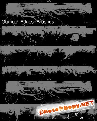Brushes set - Grunge edges