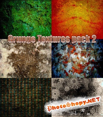 Grunge textures pack 2 for Photoshop