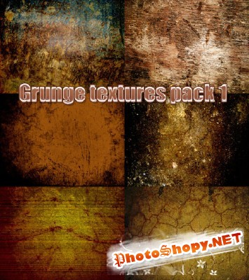 Grunge textures pack 1 for Photoshop