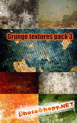 Grunge textures pack 3 for Photoshop