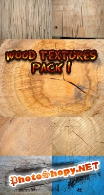 Wood textures pack 1 for Photoshop