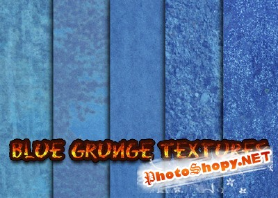 Blue Grainy Grunge Textures for Photoshop