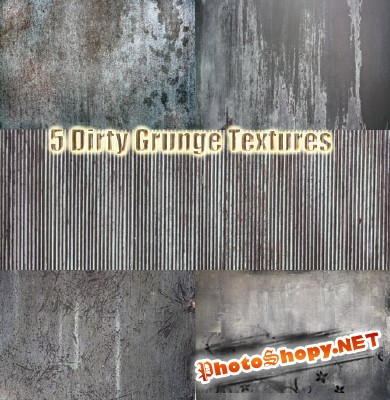 5 Dirty Grunge Textures for Photoshop
