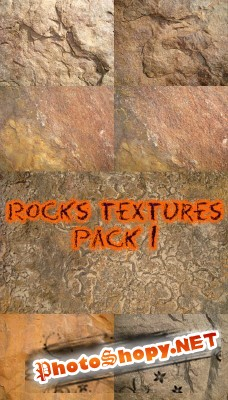 Rocks textures pack 1 for Photoshop